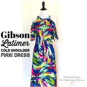 Gibson Latimer cold shoulder maxi dress